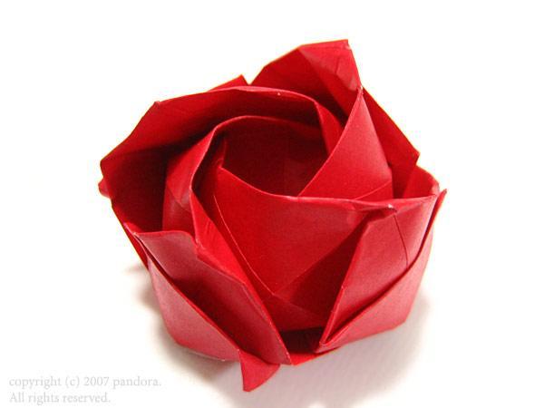 すべての折り紙 バラ作り方 折り紙 : 折り紙の宝石箱∞: 2007年3月