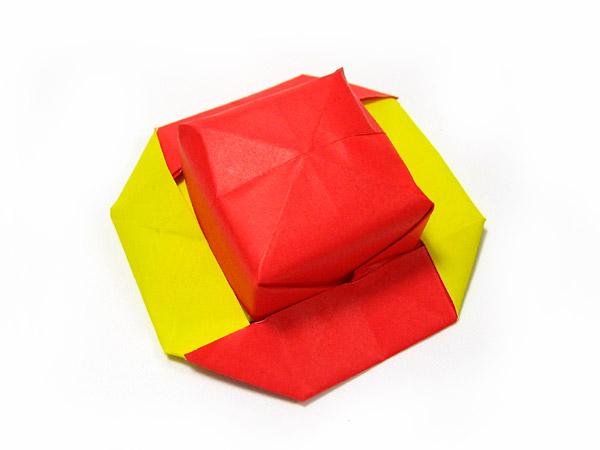 すべての折り紙 帽子の折り方 折り紙 : 帽子・なす・おすべりペンギン ...