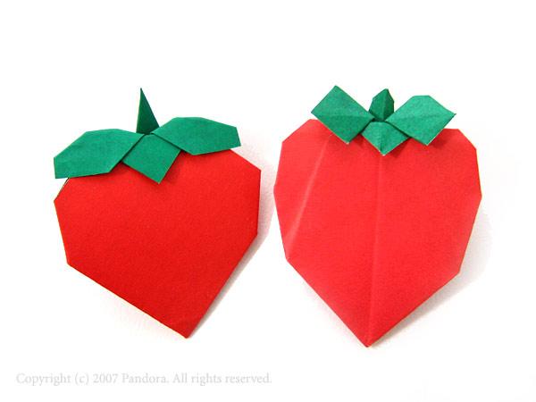 ハート 折り紙:折り紙 いちご 手紙-schatulle.cocolog-nifty.com