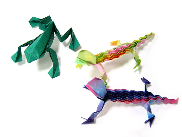 クリスマス 折り紙:折り紙カエルの作り方-divulgando.net