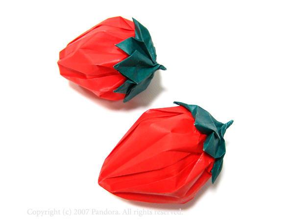 すべての折り紙 紙 箱 折り方 : イチゴ: ∞折り紙の宝石箱∞