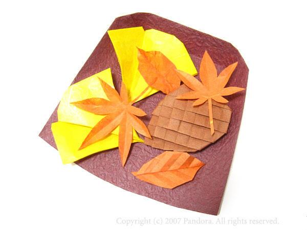 より「紅葉・イチョウ・枯葉 ... : 秋の折り紙折り方 : すべての折り紙